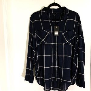 LUCKY BRAND Checkered Button Down Blouse NWT!!